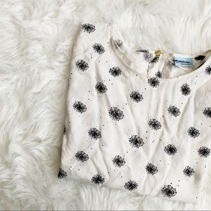 Dandelion Print Abstract Blouse